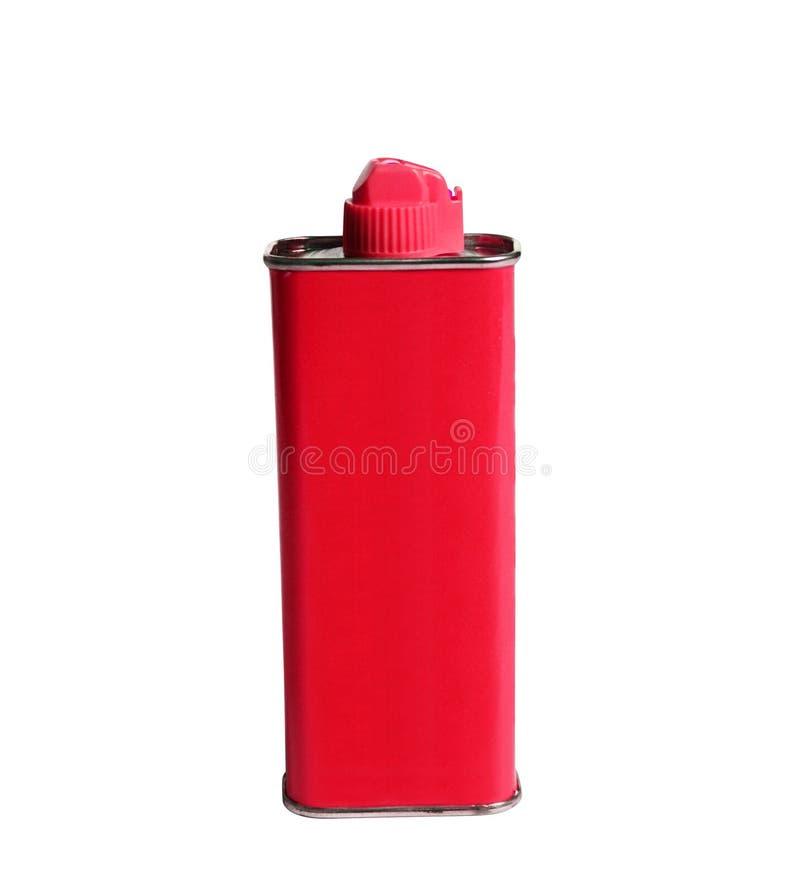 Rode Aansteker Vloeibaar Pak stock fotografie