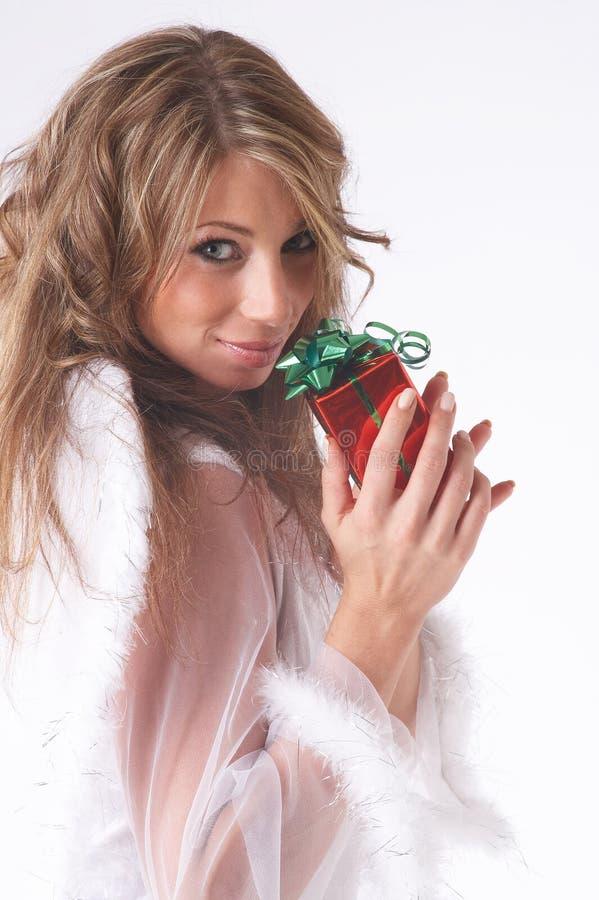 Rode aanwezige Kerstmis royalty-vrije stock afbeeldingen