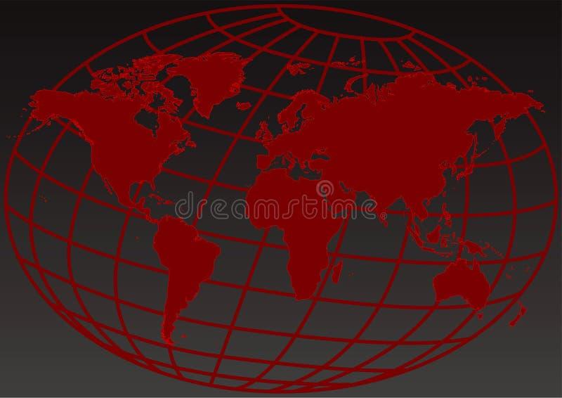 Rode aardesamenvatting vector illustratie