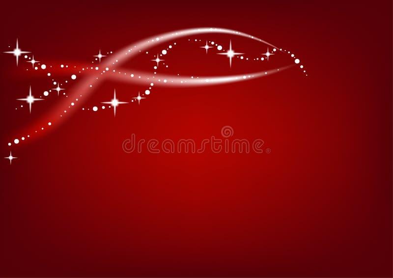 Rode Abstracte Kerstmis royalty-vrije illustratie