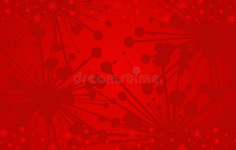 Rode Achtergrond 3 van Kerstmis royalty-vrije illustratie