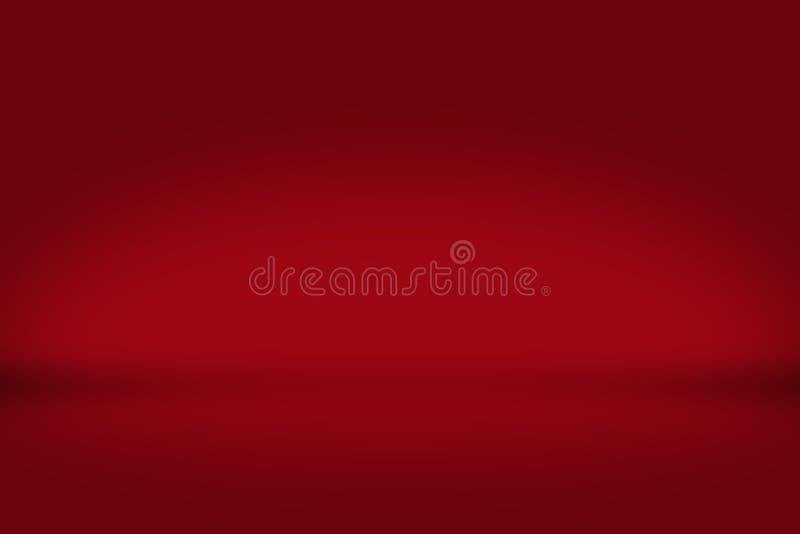 Rode achtergrond in lege 3d ruimte Achtergrond voor Kerstmis en Nieuwjaar royalty-vrije illustratie