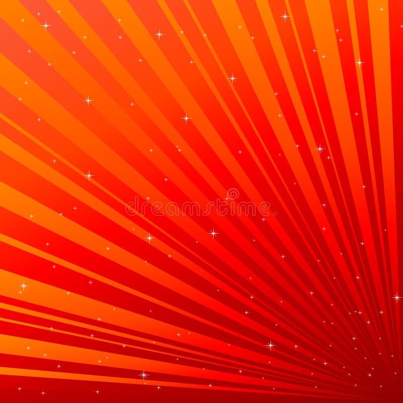 Rode achtergrond met asterisk royalty-vrije illustratie
