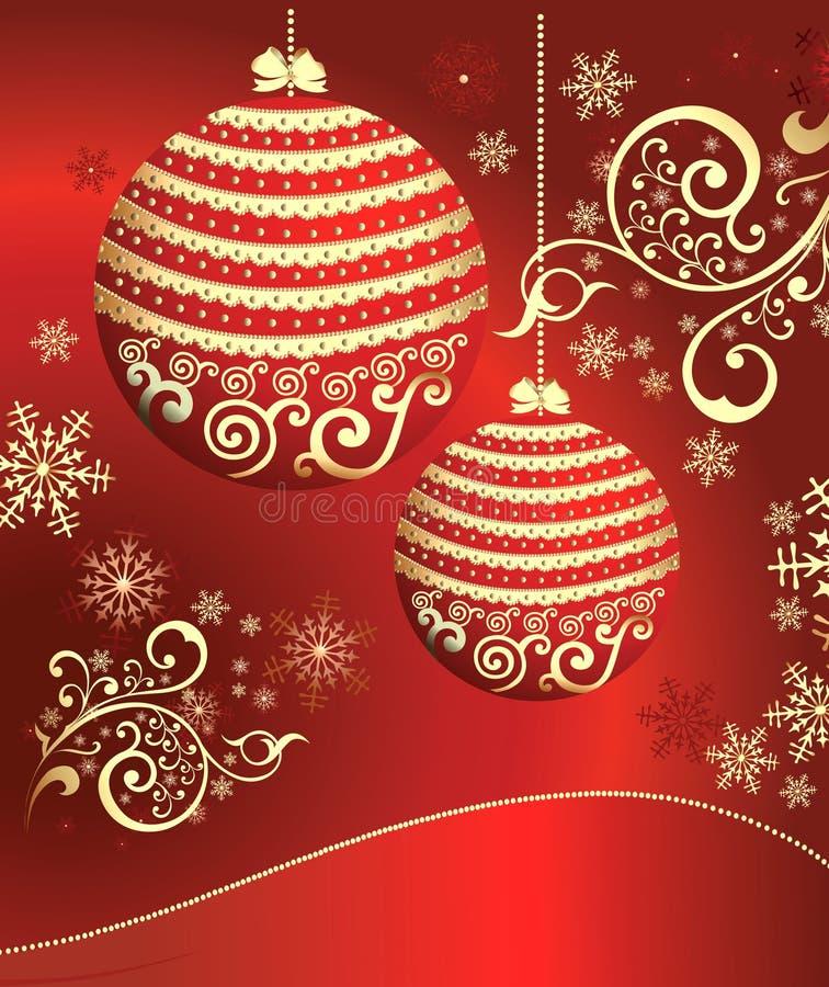 Rode achtergrond met de gebieden van het Nieuwjaar vector illustratie