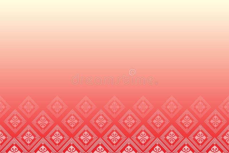 Rode achtergrond met lijn van diamanten vector illustratie