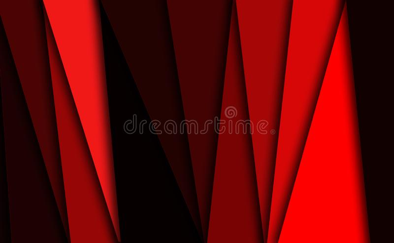 Rode achtergrond met lijnen en strepen stock illustratie