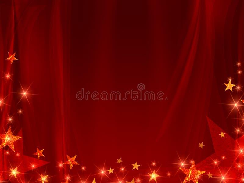 Rode achtergrond met sterren
