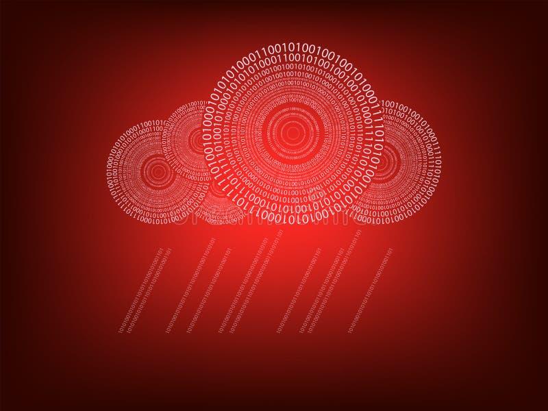 Rode achtergrond met wolk stock illustratie