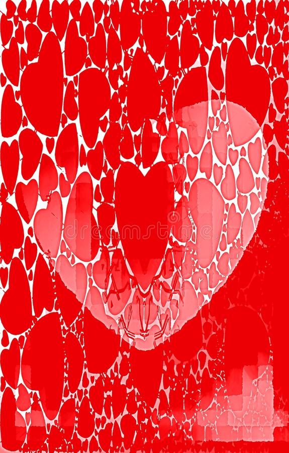 Rode achtergrond uniek patroon Olieverfeffect royalty-vrije illustratie
