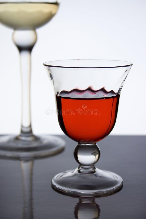 Rode alcoholische drank III stock afbeelding