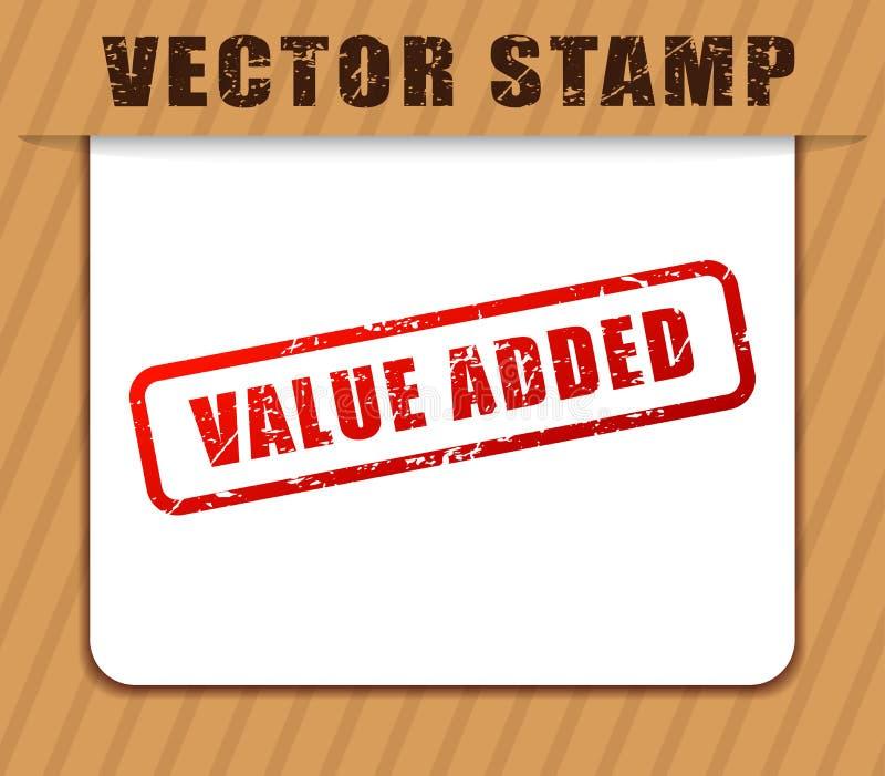 Rode als buffer opgetreden voor woorden op de toegevoegde waarde stock illustratie