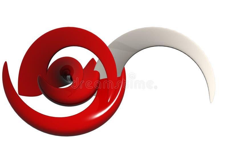 Rode & Witte Abstracte Vormen stock illustratie