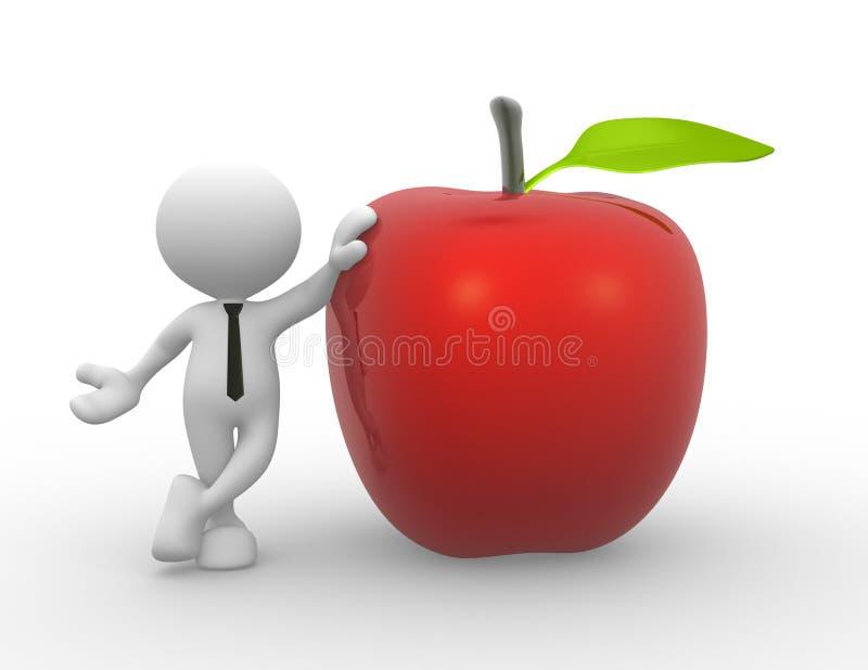 Rode appel royalty-vrije illustratie