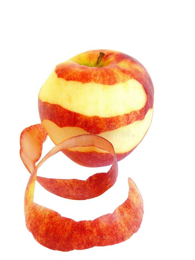 Rode appel die op een wit wordt geïsoleerdr royalty-vrije stock afbeelding