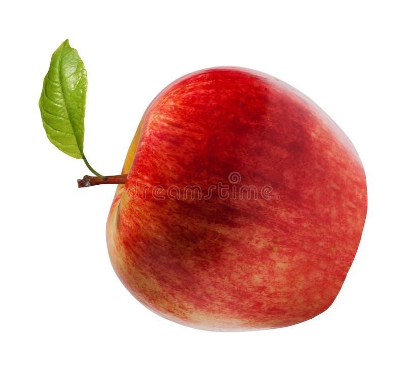 Rode appel op wit royalty-vrije stock afbeelding