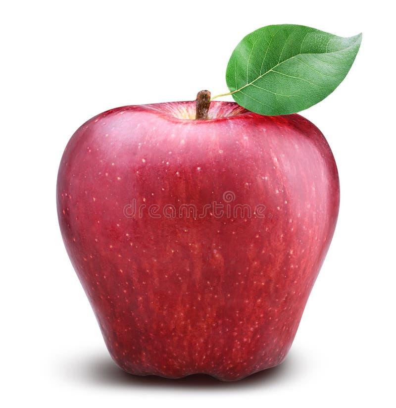 Rode appel op witte achtergrond royalty-vrije stock fotografie