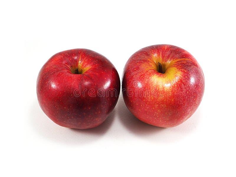 Rode appel op witte achtergrond stock afbeeldingen