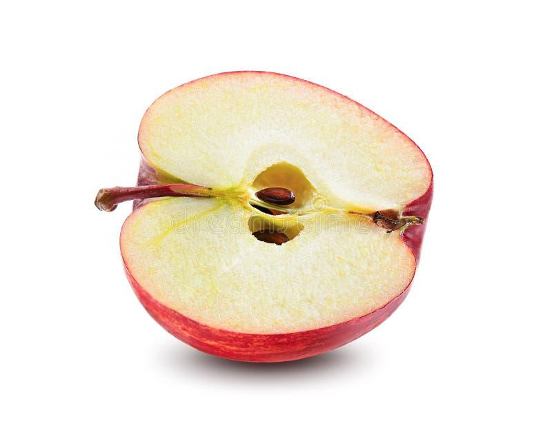 Rode appel op witte achtergrond royalty-vrije stock foto's