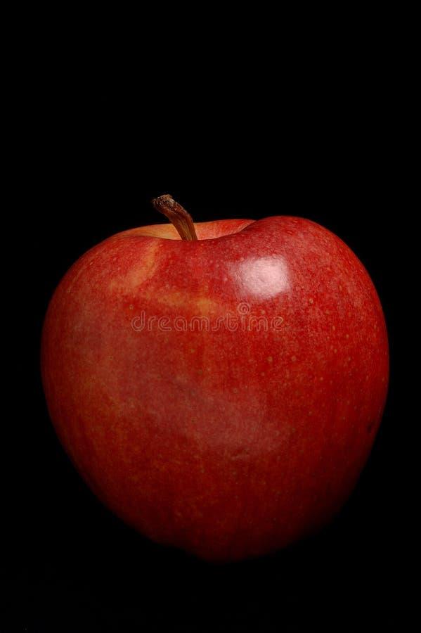 Rode Appel op Zwarte royalty-vrije stock afbeelding