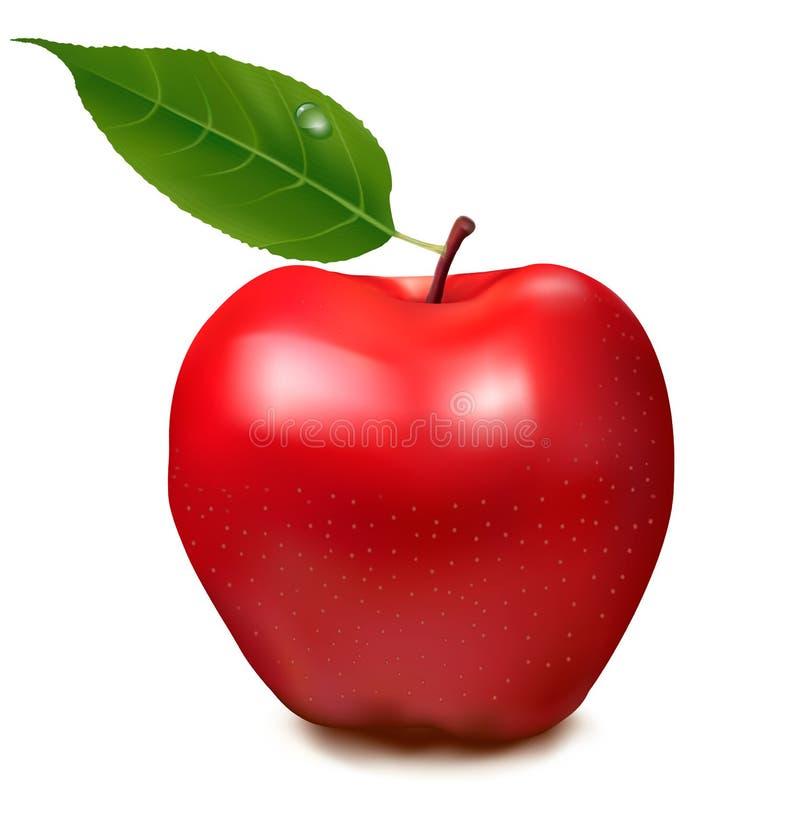 Rode appel Vector royalty-vrije illustratie