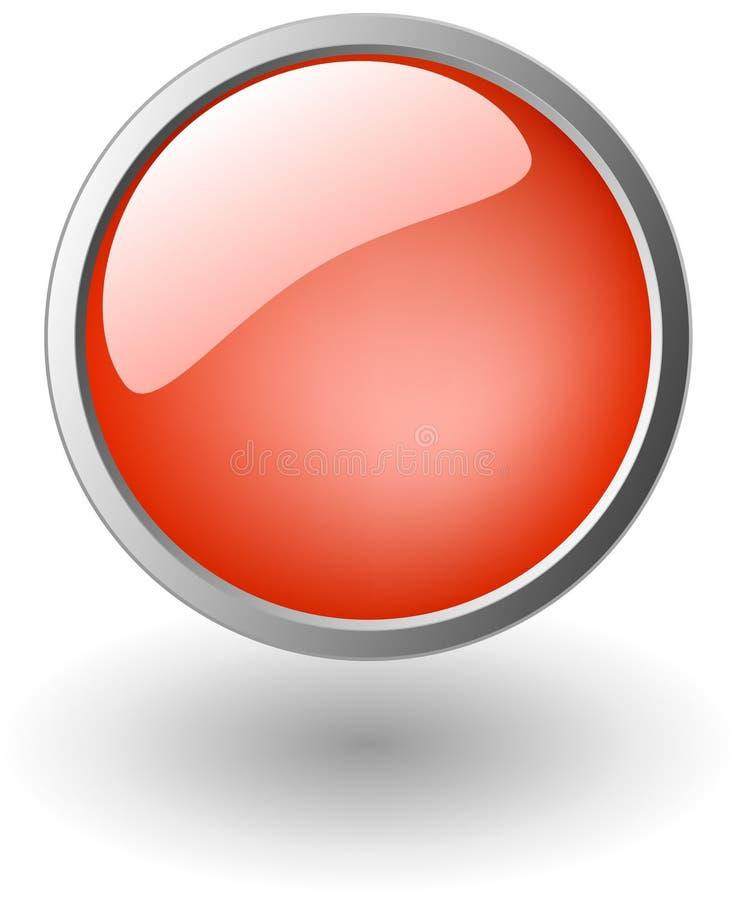 Rode aqua, glanzende knoop vector illustratie