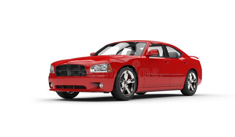 Rode auto stock illustratie