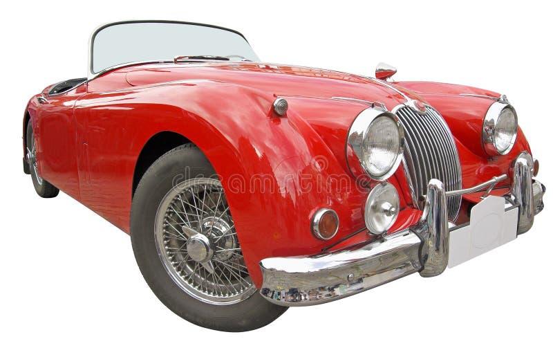 Rode auto. stock afbeelding