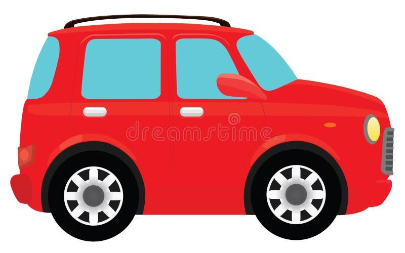 Rode auto royalty-vrije illustratie