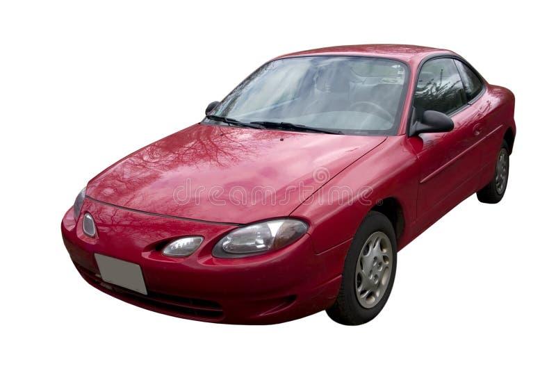 Rode auto royalty-vrije stock afbeeldingen