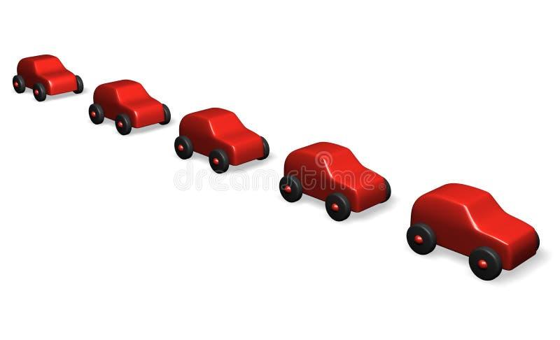 Rode auto's royalty-vrije illustratie
