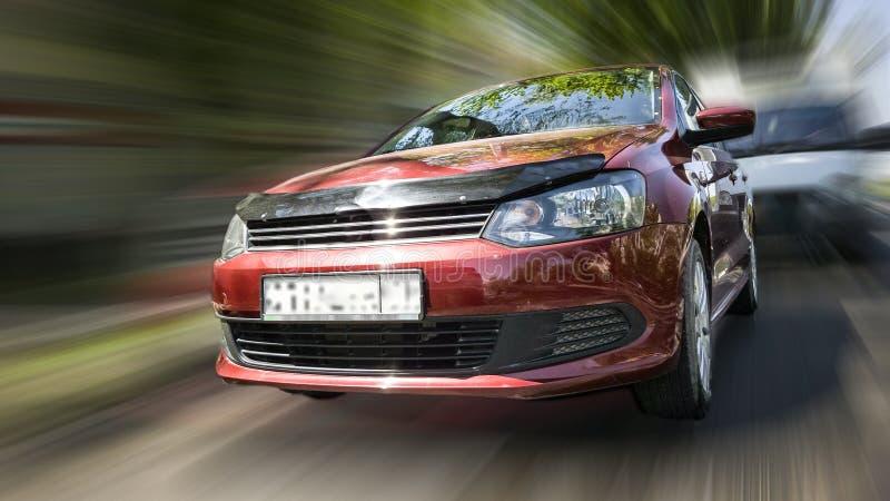 Rode auto Volkswagen royalty-vrije stock fotografie