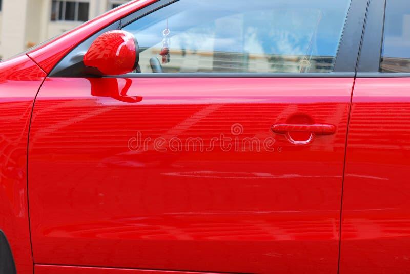 Rode Autodeur royalty-vrije stock afbeelding