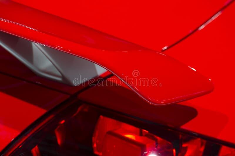 Rode autospoiler royalty-vrije stock foto