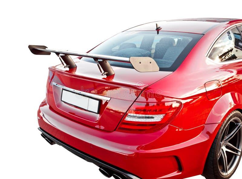 Rode autospoiler stock afbeeldingen
