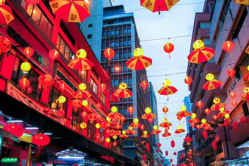 Rode Aziatische Lantaarns royalty-vrije stock foto's