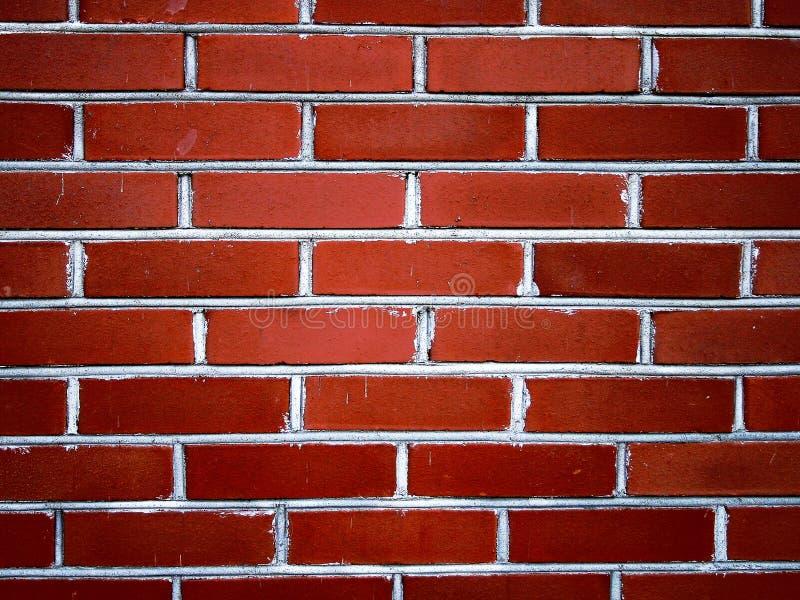 Rode bakstenen muur II royalty-vrije stock fotografie