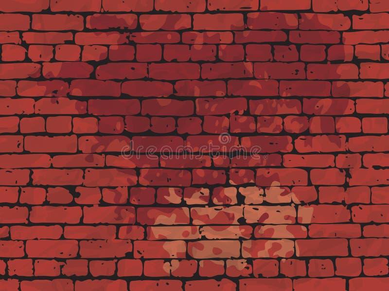 Rode bakstenen muur vuile achtergrond. vector illustratie