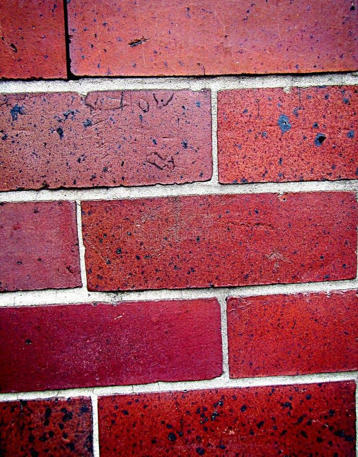 Rode Bakstenen van een muur stock afbeelding