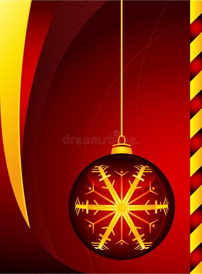 Rode bal Christmass stock foto's