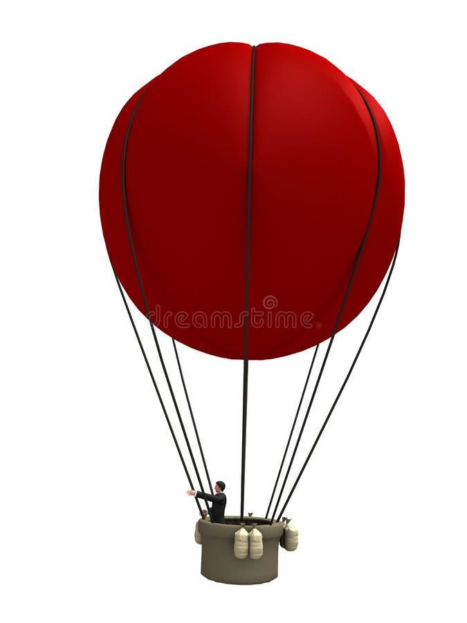 Rode ballon royalty-vrije illustratie