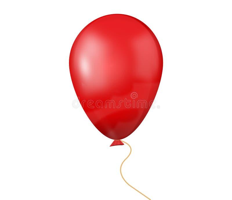 Rode baloon royalty-vrije illustratie