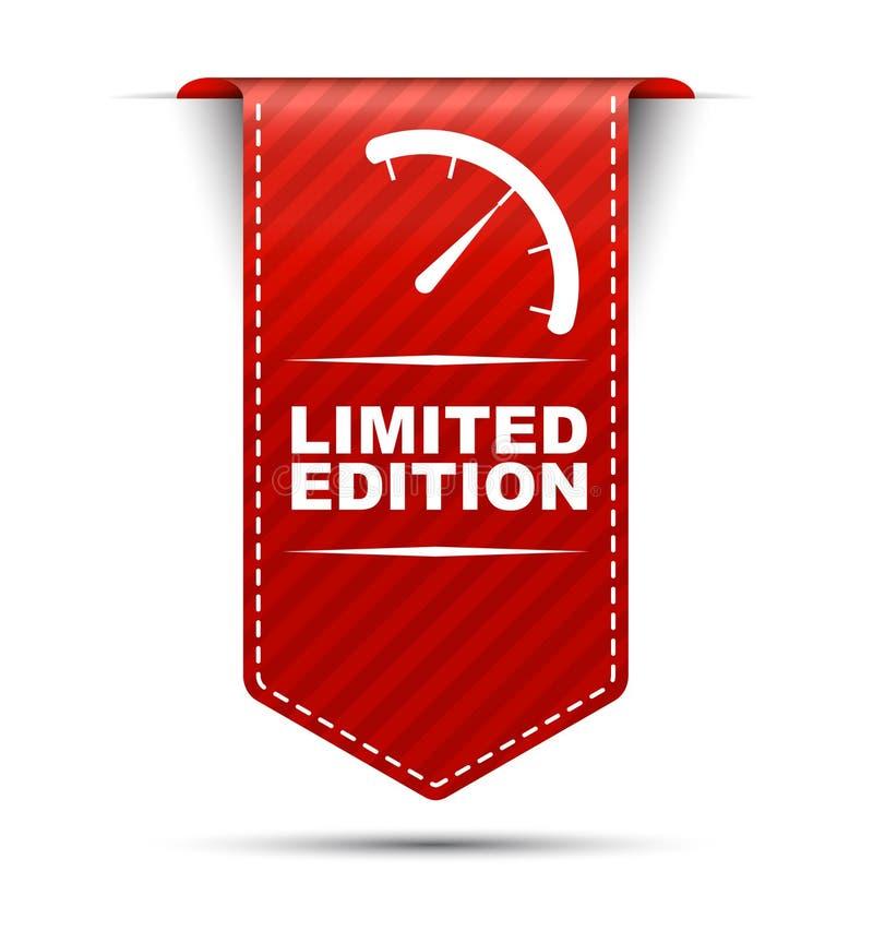 Rode bannerontwerp beperkte uitgave stock illustratie
