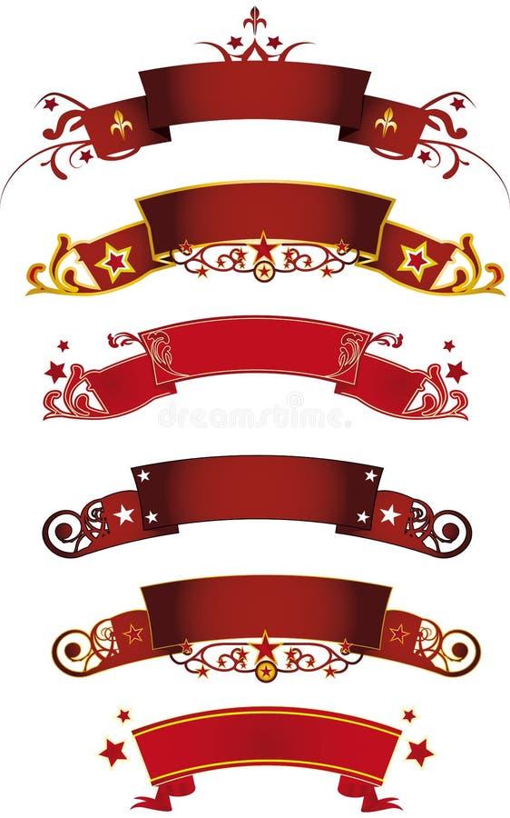 Rode banners vector illustratie