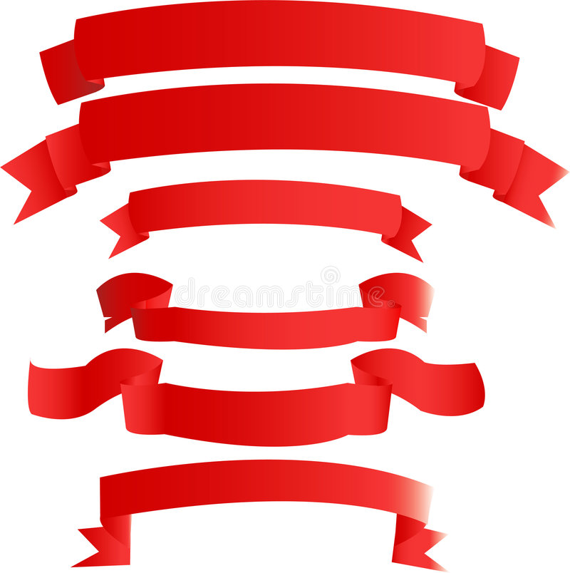 Rode banners royalty-vrije illustratie