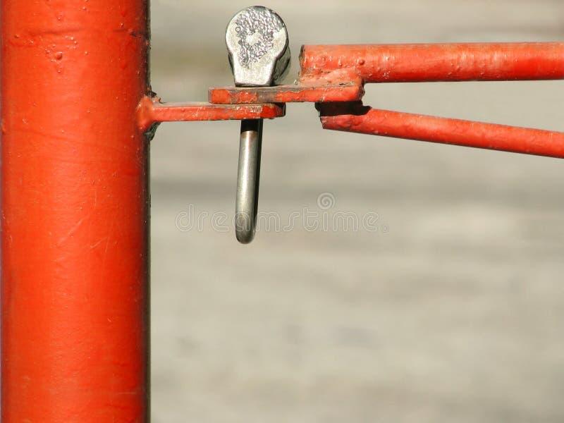 Rode barrière stock foto