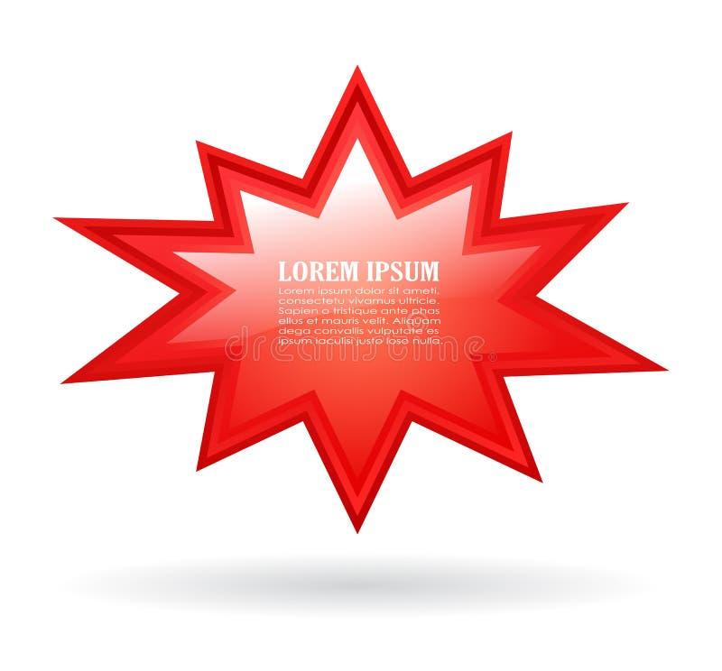 Rode barstende tekstster stock illustratie