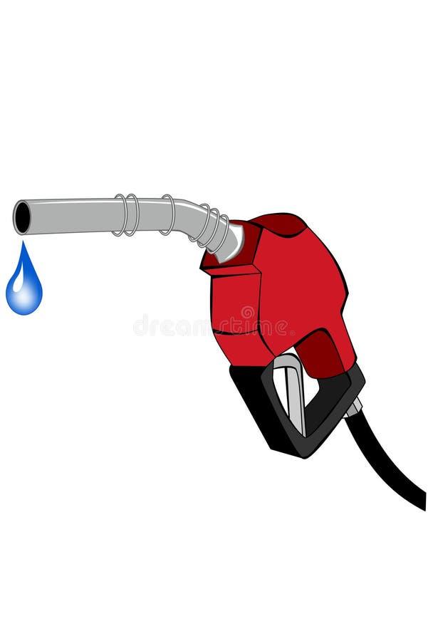 Rode benzinepomppijp royalty-vrije illustratie