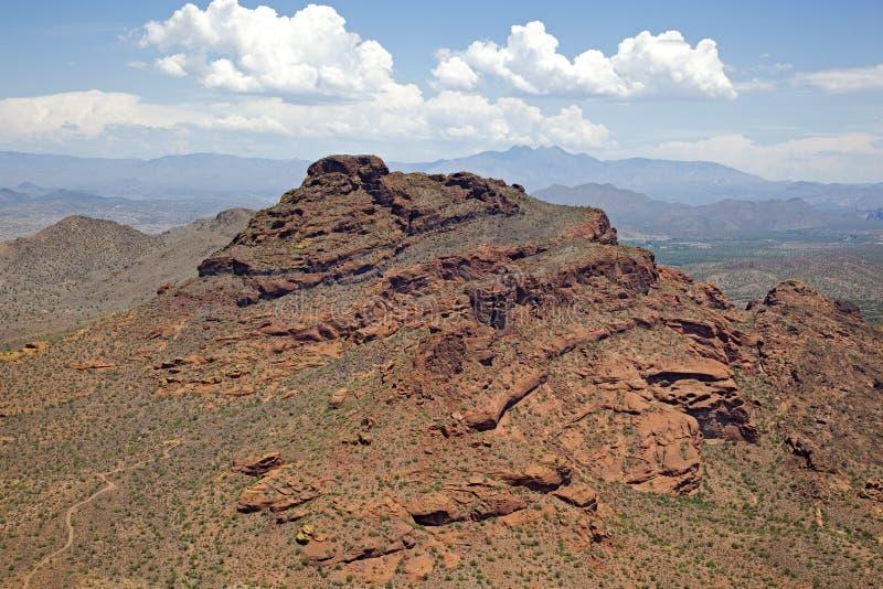 Rode Berg in Mesa stock foto