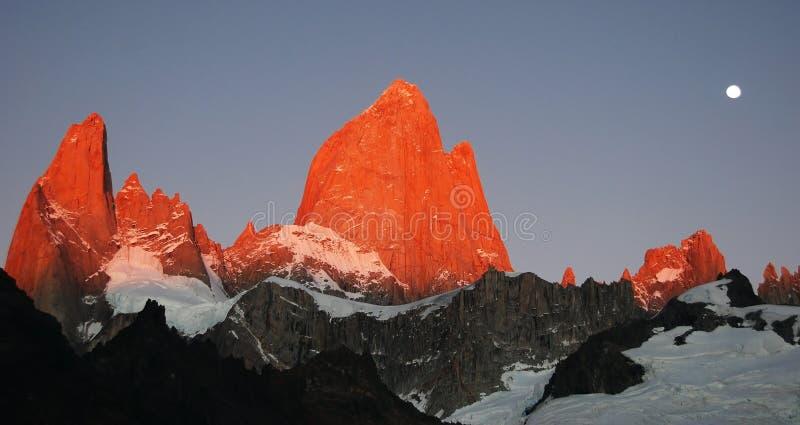 Rode bergpieken royalty-vrije stock foto