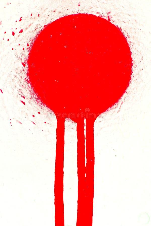 Rode Bespoten Verfvlek Gratis Stock Foto